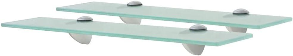 LUCKDEER Floating discount Shelves Kansas City Mall 2 Glass 15.7