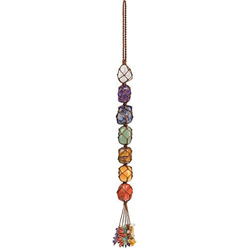 iSTONE Hanging Ornaments 7 Chakra Ornament Set Home Decor Gemstones Reiki Feng Shui Ornament Window Ornament