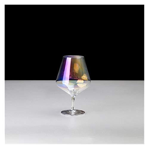 LIZCX YAOQIHAI Copa de Vino de Color Cristal Copa de Vino Globet de Vidrio para el hogar Partido Transferencia de Bebidas Champagne Glasses Wine Globet Bar Party Fiesta Webware (Color : F)