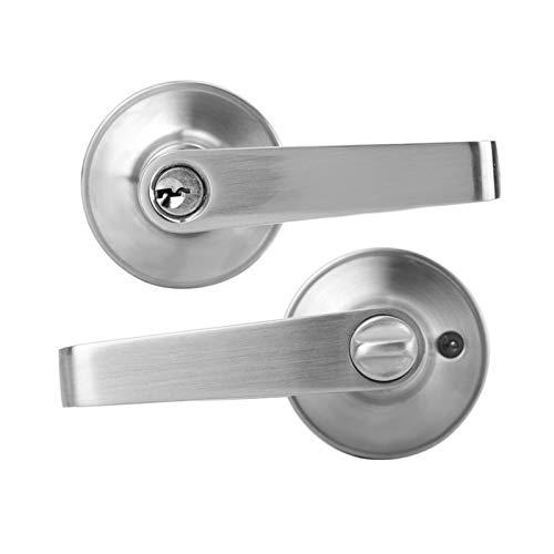 YUAN CHUANG 1 Puesta de aleación de aleación de Zinc Cerradura mecánica Redonda Izquierda/Derecha Abierta para la Puerta de Entrada de baño de Dormitorio