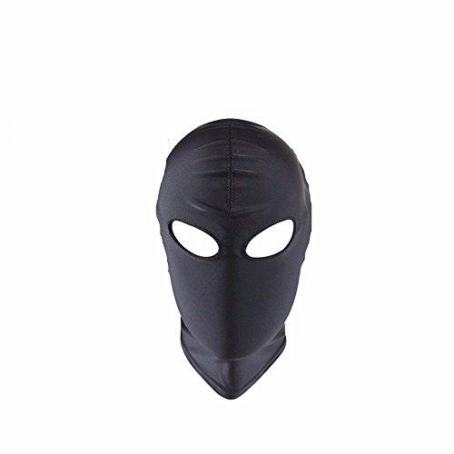 XO-MOK komplett geschlossene Schwarze Frau Herren Schatten Hood Hood Typ 3: Tau Augenmaske Bett Set Männer Frauen Cosplay Paar Spielen Spielzeug personalisierte Kostüm