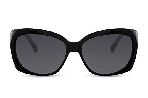 Cheapass Gafas de Sol Negras Rectangular Mariposa Mujer Gafas de Sol