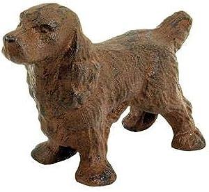 Cast Iron Cocker Spaniel Dog Paperweight - Animal Figurine