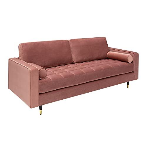 Invicta Interior Elegantes Design 3er Sofa Cozy Velvet 225cm Altrosa Samt Federkern Couch Sofagarnitur