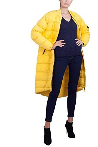 NAPAPIJRI Abrigo largo de nailon elástico para mujer, color amarillo, talla S