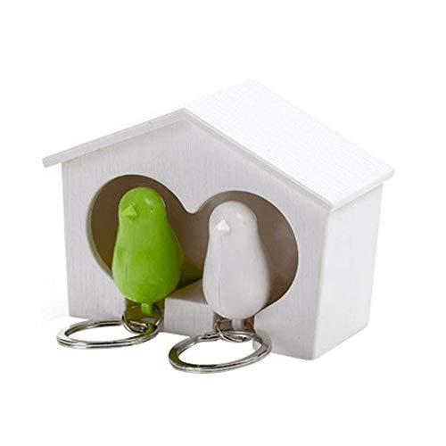 Qinlee Kreativ Paar Vogelhaus Schlüsselanhänger Mode Damen Mädchen Keychain Schlüsselring Dekoration für Home Garden
