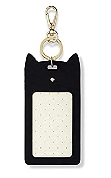 Kate Spade New York ID Badge Clip Key Chain Black Cat