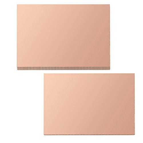 Poilee 10pcs Copper Clad Board Single Sided Laminate PCB Circuit Board 100x150mm FR-4 Copper Clad PCB Board 4X6