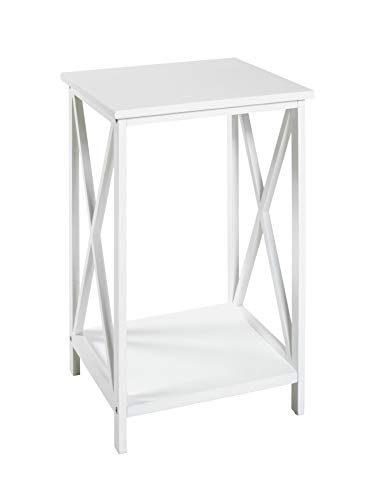 HAKU Möbel Mesa Auxiliar, Material de Madera (Tablero DM), Blanco, 30 x 30 x 50 cm
