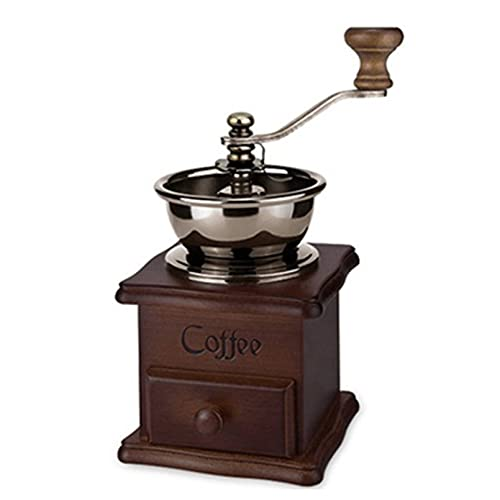 MNSYD Manuelle Kaffeemühle Vintage Style Holz Handmühle Hand Kaffeemühle Walze Classic Kaffeemühle Handkurbel Kaffeemühle