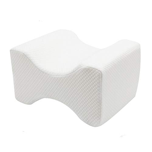 Memory Foam Leg Pillow Orthopaedic Reduce Pain Back Hips Knee Cushion Support Reduce Sciatica Pain Relief Therapy Back Hip and Joint Pregnancy Cushion Support With Washable Cover,White