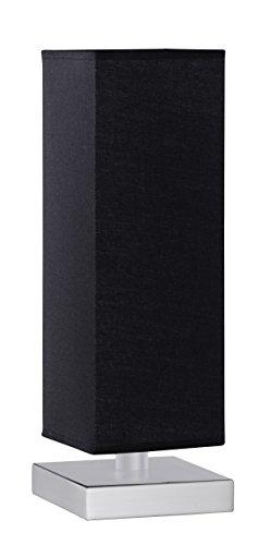 Trio-Leuchten 5914011-02 Tischleuchte Touch ME 1xE14 max. 60W Nickel matt Stoffschirm schwarz