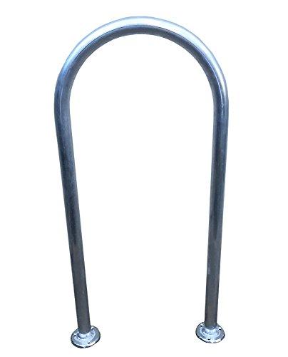 "Marine Fiberglass Direct 48"" (H) x 16.5"" (W) Aluminum Handrail - Safety Grab Bar - Pools, Hot Tubs, Boats, Decks, Docks"