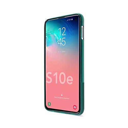 Artwizz NextSkin Case Designed für [Galaxy S10e] - Ultra-dünne, elastische Handyhülle mit 0,8 mm Dicke, 2/3 Transluzent, 1/3 Matt - Petrol