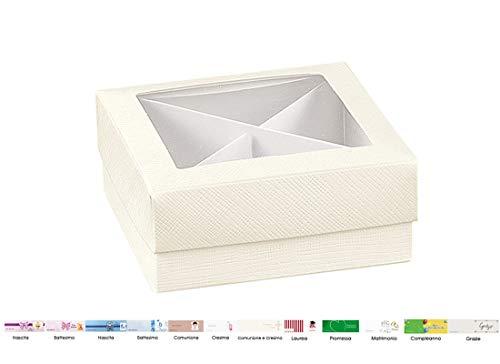 ipt Scatoline Portaconfetti con Finestra e Cartoncino Separatore 20pz 13898 degustazione Confetti