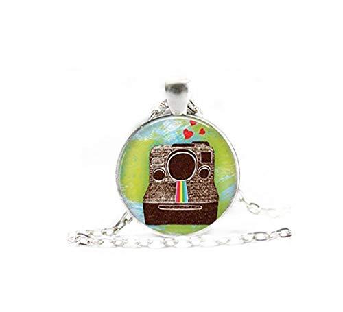 heng yuan tian cheng Kamera-Halskette, Fotografen-Halskette, Weltreisende Halskette, Glaskuppel-Halskette, Fotograf-Anhänger, individuelle Halsketten