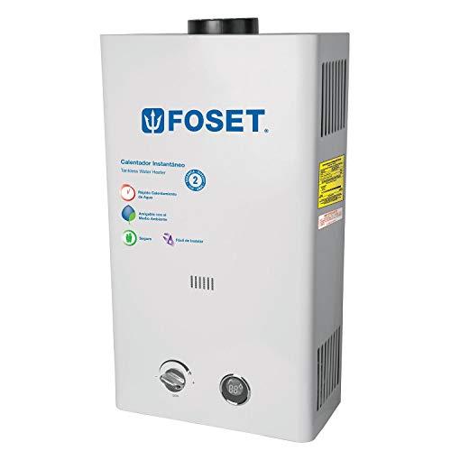 Foset CALE-13I-N, Calentador de flujo Instantáneo, 13L, gas natural,2 servicios