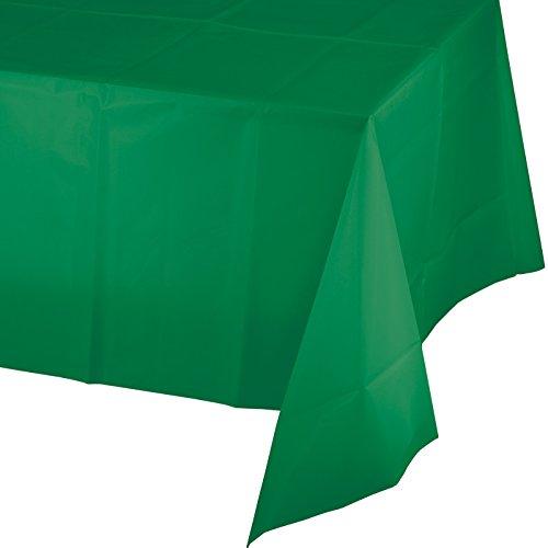 """Creative Converting 913261 Emerald Green Celebrations Plastic Table Cover, Multicolor, 54"""" x 108"""""""