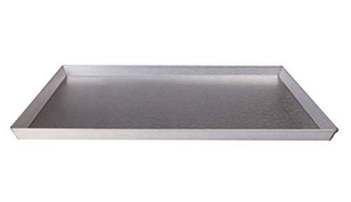 Pentole Agnelli Teglia Rettangolare, Lamiera Alluminata, Argento, 60 x 40 cm