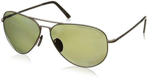 Occhiali da Sole Polarizzati Porsche Design P8508 Q Montatura in Acciaio Inossidabile Marrone - Vestibilità Medio/Grande