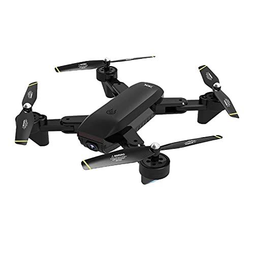 Drone 4K plegable con cámara Duble para adultos, posicionamiento de flujo óptico WiFi Video en vivo Video de gestos, Modo sin cabeza de retención de altitud Despegue con una tecla, Cuadricópte