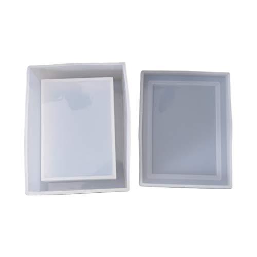 zhichy Caja de pañuelos de silicona para artículos diarios de necesidades, molde de silicona de resina, moldes de joyería para resina
