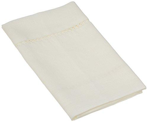 LinenMe Lino de Mano y Toallas de Invitados, 19por 71,5cm, Blanco, Juego de 2