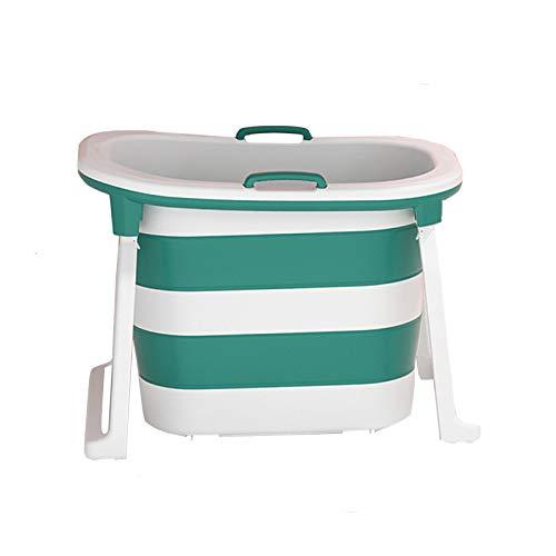 Green-34-inch large portable folding bathtub, adult portable bathtub, children's bath tub, freestanding portable shower bucket in the corner of the bathroom, home freestanding bathtub