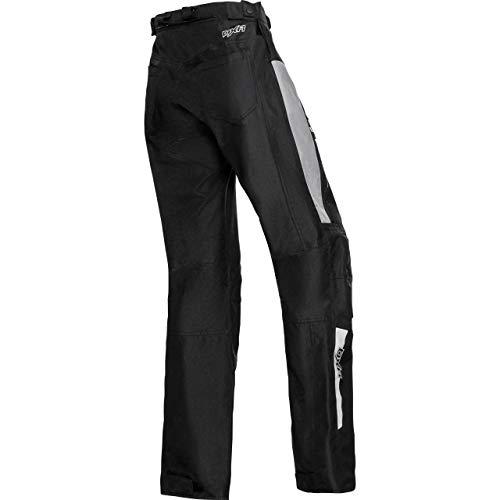 DXR Motorradhose Damen Sommer Textilhose, Verbindungsreißverschluss, 2 Einschub-, 2 Gesäßtaschen, Taschen für Knie-, Hüftprotektoren, Grau, XS - 2XL / XXL