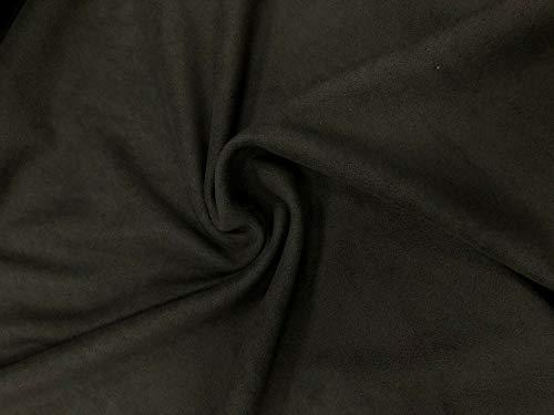 Neopren-Stoff mit Fleece-Rückseite, 2 mm, Schwarz. Schwarz – 1 m x 150 cm.