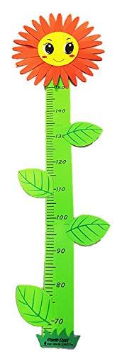 Kinder Schaumstoff Messlatte Metermaß Größenmaß im süßen Design bis 150cm (Blume)