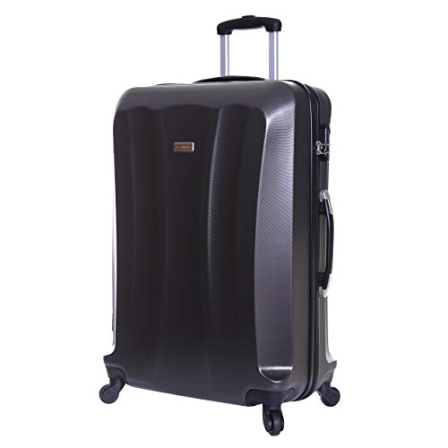 Slimbridge Extra Large Hard Shell Luggage Suitcase Bag XL 78 cm 3.8 kg 85 litres with 4 Wheels and Number Lock, Lydde (78 cm, Graphite)