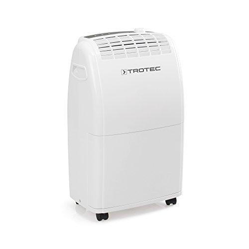 TROTEC Deshumidificador eléctrico TTK 75 E / 20L / Desagüe 3L / Portátil/Para Habitaciones de hasta 45m² / 110m³ / Filtro de Aire/Extra Silencioso / 320 W/Auto-Apagado/Higrostato Automático
