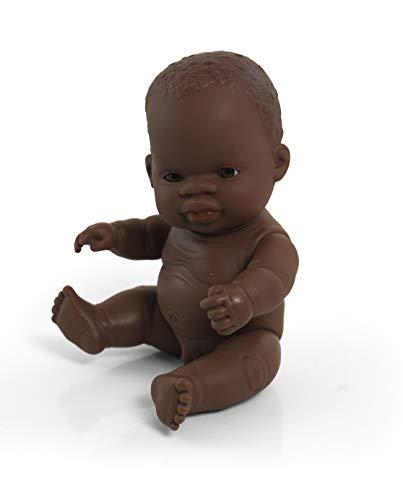 Miniland miniland31143 21 cm African Boy pop zonder ondergoed in zak