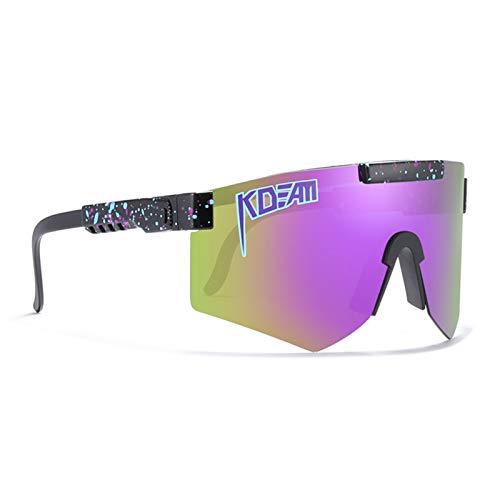 Gafas de sol polarizadas originales para hombres y mujeres al aire libre a prueba de viento UV400 lentes espejadas gafas de ciclismo TR90 gafas de sol ajustables para bicicleta