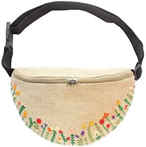 Embroidered fanny pack for women Flowers waist bag for girl product image