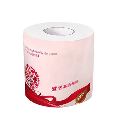 RROVE 1 Rolle Toilettenpapier Kein Fluoreszierendes Mittel Soft Stronge 4-lagiges Blatt Badetuch