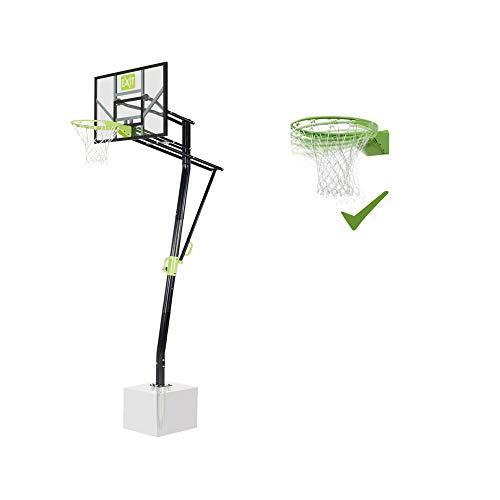 EXIT Galaxy Basketballkorb zur Bodenmontage mit Dunkring - grün/schwarz
