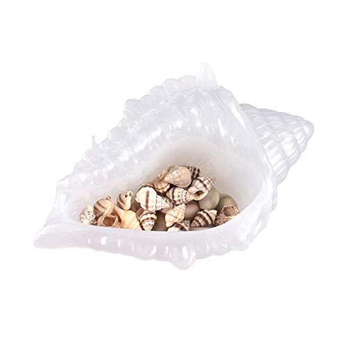 Conch Resin Mould Epoxy Mould zur Herstellung von Conch Tray, Untertasse, Schmuck Aufbewahrungsbox, Kerzenhalter, Aschenbecher, Platte DIY Silikonform Conch Casting Mold