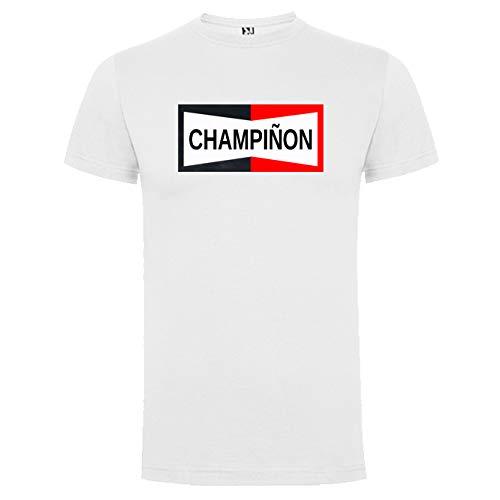 Camisetas Divertidas Graciosas CHAMPIÑON Unisex Moteros Automovilismo