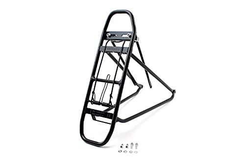 Racktime Unisex– Erwachsene Eco 2 Gepacktrager, schwarz, 1size