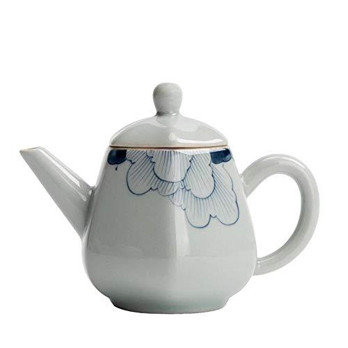 180ml Blauw en Wit Porselein Hibiscus Theepot Koffie Potje Keramische Thee Set Vintage Home Decor