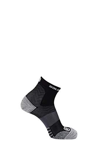 Salomon, 1 Paar knöchelhohe Socken, Unisex, OUTPATH LOW, Polyamid/Polypropylen, Größe: S (36-38), Schwarz/Grau (Black/Ebony), LC1127900