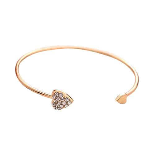 1 pulsera para mujer, oro rosa, pulseras para niñas, para regalos y decoraciones