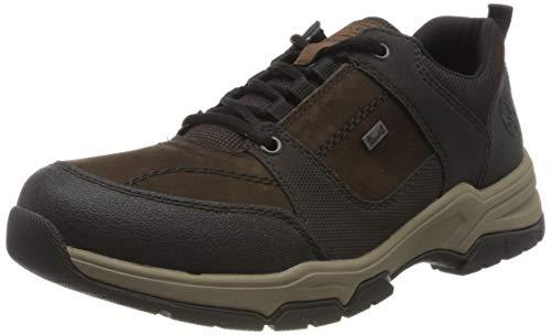 Rieker Herren B4313 Sneaker, Schwarz (Schwarz/Testadimoro/Schwarz/Marron/Testadimoro 01), 43 EU