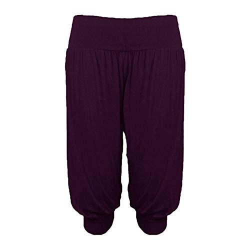 LUXE DIVA Pantalones cortos de corte holgado Ali Baba para mujer, talla grande, talla grande, talla 8-26, Morado (, 48-50