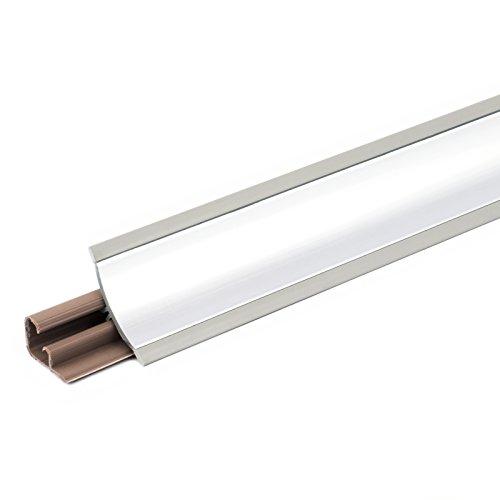 DQ-PP 3m WINKELLEISTE | Aluminium | 23 x 23mm | PVC | GRATIS Schrauben | Küchenleiste Arbeitsplatte Abschlussleiste Leiste Küche Küchenabschlussleiste Wandabschlussleiste Tischplattenleisten