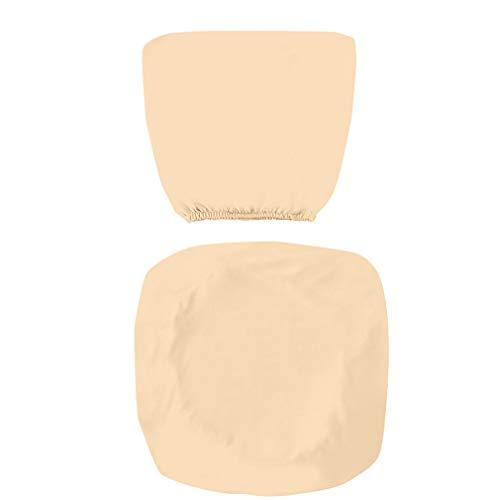 Kaned - Funda elástica para silla de oficina, elástica, universal, elástica, giratoria, color champán