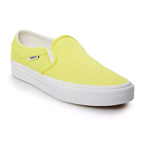 Vans Womens Asher Slip On Sneaker (Neon Yellow/White, Numeric_8_Point_5)