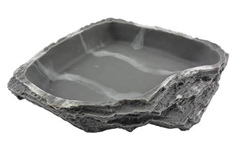Lucky Reptile WDG de 9 Corner Dish Granito – máximo, XS,